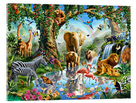 Acrylglas print  The paradise of animals - Adrian Chesterman