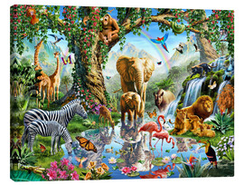Canvas print  The paradise of animals - Adrian Chesterman