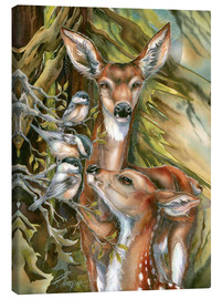 Canvas print  Deers and birds - Jody Bergsma