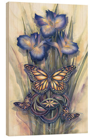 Hout print  A new day has come - Jody Bergsma