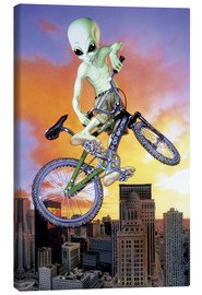 Canvas print  Alien BMX - Alien Invasion