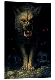 Acrylglas print  Demon wolf - Chris Hiett