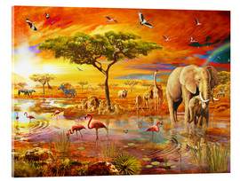 Acrylglas print  Savanna Pool - Adrian Chesterman