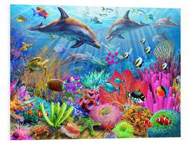 PVC print  Dolphin coral reef - Adrian Chesterman