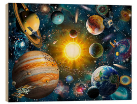 Hout print  Our Solar System - Adrian Chesterman