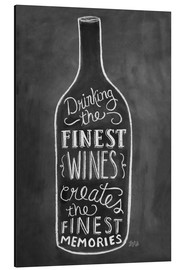 Aluminium print  Finest Wines - Lily & Val