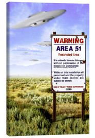 Canvas print  Desert - Area 51