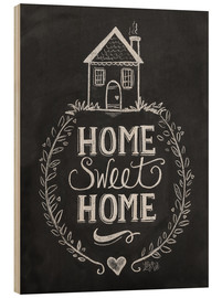 Hout print  Home Sweet Home - Lily & Val