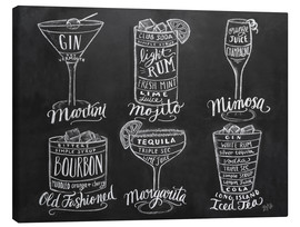 Canvas print  Cocktail Recipes - Lily & Val