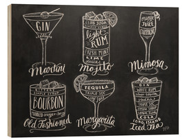 Hout print  Cocktail Recipes - Lily & Val