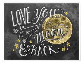 Premium poster  Love you to the moon - Lily & Val