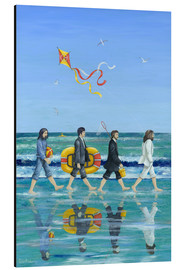Aluminium print  Abbey Road strand - Peter Adderley