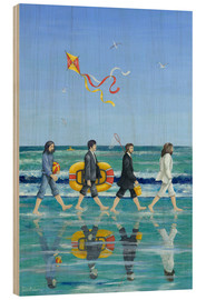 Hout print  Abbey Road Beach - Peter Adderley