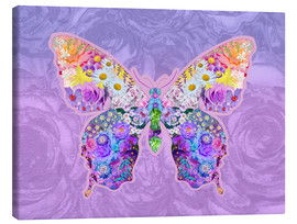 Canvas print  Purple Floral Buttefly - Alixandra Mullins