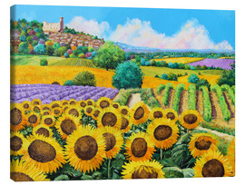 Canvas print  Vineyards and sunflowers in Provence - Jean-Marc Janiaczyk