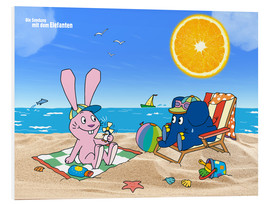 PVC print  Elephant and Hare go on holiday