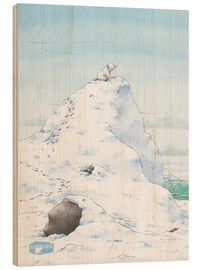 Hout print  The Little Polar Bear, at the top