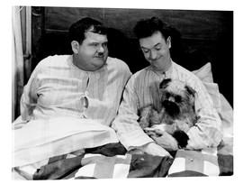 Acrylglas print  Bedtime with Laurel & Hardy