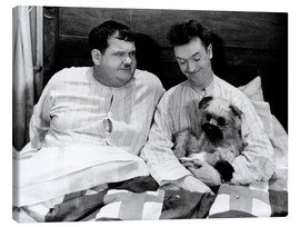 Canvas print  Bedtime with Laurel & Hardy