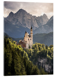 Acrylglas print  Neuschwanstein Castle in front of the Alps - Andreas Wonisch