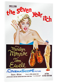 Acrylglas print  THE SEVEN YEAR ITCH, Marilyn Monroe, Tom Ewell