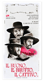 Premium poster THE GOOD, THE BAD, AND THE UGLY (IL BUONO, IL BRUTTO, IL CATTIVO), Lee Van Cleef, Eli Wallach, Clint