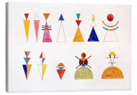 Canvas print  Sketch for picture XVI, The Great Tower of Kiev - Wassily Kandinsky