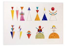 PVC print  Sketch for picture XVI, The Great Tower of Kiev - Wassily Kandinsky