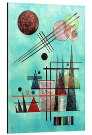Aluminium print  Across and Up - Wassily Kandinsky