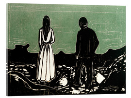 Acrylglas print  Two People (The Lonely Ones) - Edvard Munch