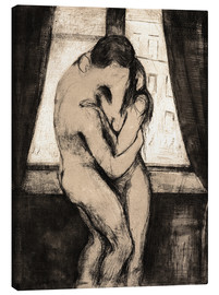 Canvas print  De kus - Edvard Munch