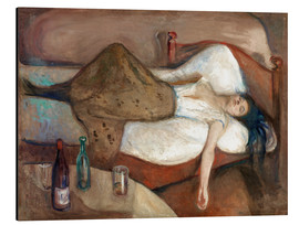 Aluminium print  The day after - Edvard Munch