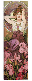 Canvas print  The gems: Amethyst - Alfons Mucha