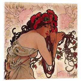 Acrylglas print  The Seasons 1896: Summer (detail) - Alfons Mucha
