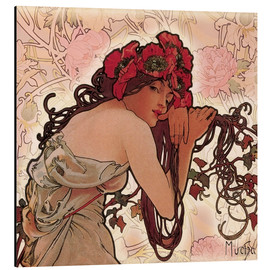 Aluminium print  The Seasons 1896: Summer (detail) - Alfons Mucha