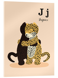 Acrylglas print  The Animal Alphabet - J like Jaguar - Sandy Lohß