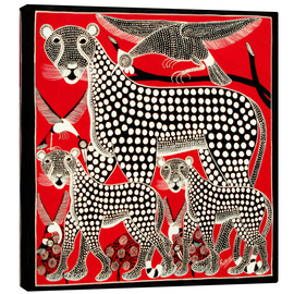 Canvas print  Black Cheetah family - Rubuni