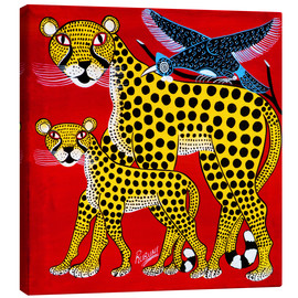 Canvas print  Cheetahs on tour - Rubuni