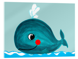 Acrylglas print  Willfried, the friendly whale - Little Miss Arty