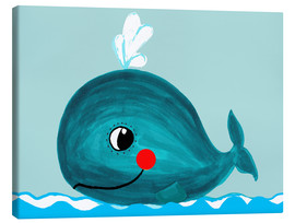 Canvas print  Willfried, the friendly whale - Little Miss Arty