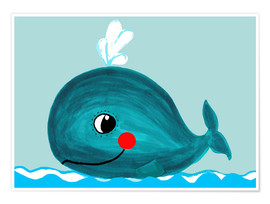 Premium poster Willfried, the friendly whale