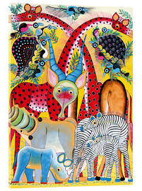 Acrylglas print  Colorful wild animals of Africa - Lewis