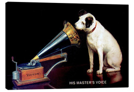 Canvas print  Victor Grammophon - His master's voice - François Barraud