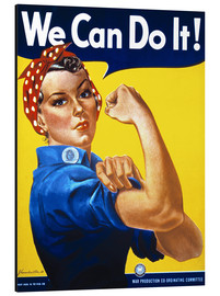 Aluminium print  We Can Do It! - Advertising Collection