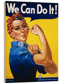 Hout print  We Can Do It! - Advertising Collection