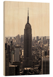Hout print  Empire State Building Vintage - Buellom