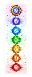 Premium poster The Seven Chakras - Series V - Artwork II