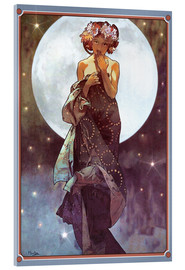 Acrylglas print  The full moon, adaptation - Alfons Mucha