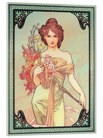 Acrylglas print  The Seasons (1900): Spring, detail - Alfons Mucha