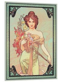 PVC print  The Seasons (1900): Spring, detail - Alfons Mucha